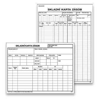 Obrázek produktu Skladní karta zásob Optys - 100 ks, výběr velikostí