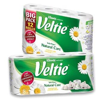 Obrázek produktu Toaletní papír Veltie Kleenex Natural Care - 3 - vrstvý, 150 útržků, výběr balení
