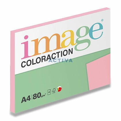 Obrázok produktu Image Coloraction - farebný papier - pastelovo ružová, A4, 80 g, 100 l., Tropic