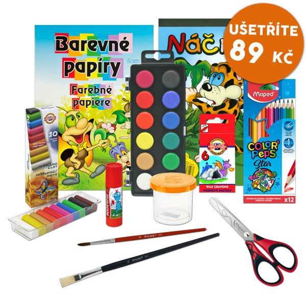 Balíček výtvarných potřeb pro první třídu