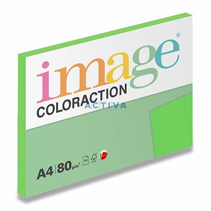 Obrázok produktu Image Coloraction - farebný papier - sýta zelená, A4, 80 g, 100 l., Dublin