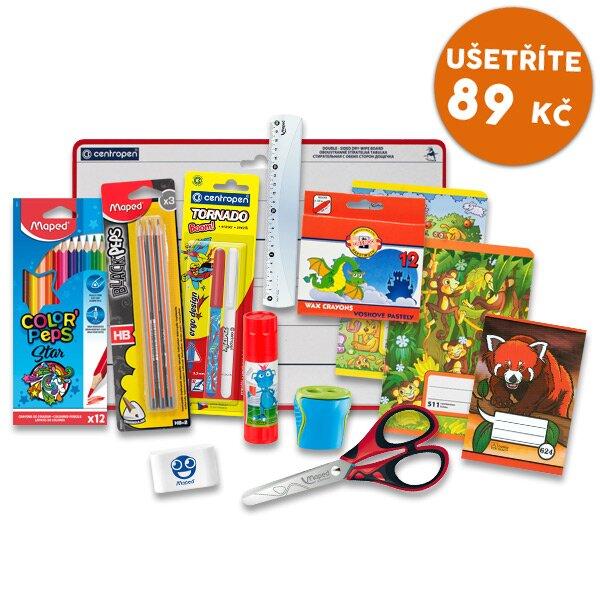 Balíček školních psacích potřeb pro první třídu