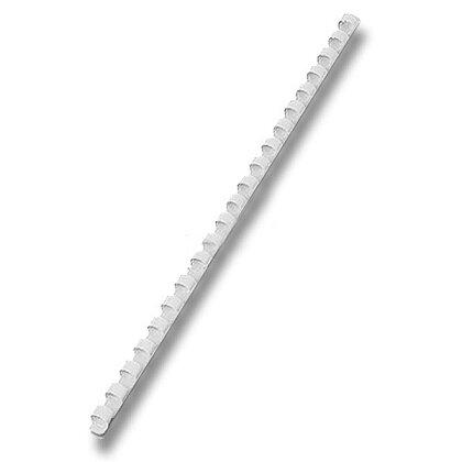 Obrázek produktu Plastový hřbet pro kroužkový vazač - průměr 8 mm, 100 ks, bílý