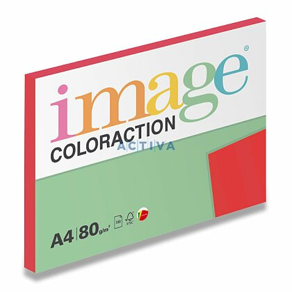 Obrázok produktu Image Coloraction - farebný papier - jahodovo červená, A4, 80 g, 100 l., Chile