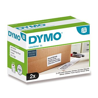 Obrázek produktu Samolepicí štítky Dymo Label Writer - 102 × 59 mm, 2 x 575 ks