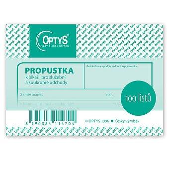 Obrázek produktu Propustka Optys 1147 - A7, 100 listů