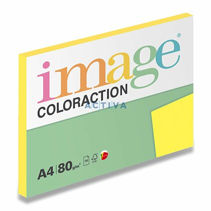 Obrázok produktu Image Coloraction - farebný papier - stredne žltá, A4, 80 g, 100 l., Canary