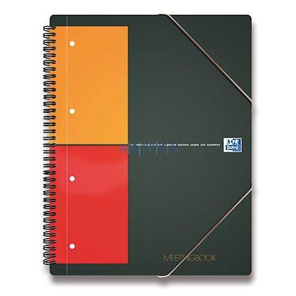 Obrázok produktu Oxford Meeting - krúžková záznamová kniha - A4, 80 l., štvorčeková
