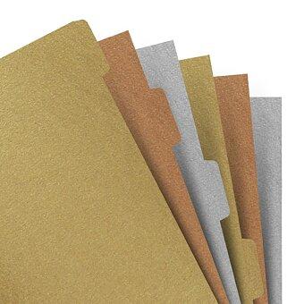 Obrázek produktu Krajové výřezy - metalické - náplň A5 zápisníků Filofax Notebook