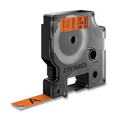 Obrázek produktu Dymo D1 1978367 - originální vinylová páska - černo-oranžová, 12 mm × 3 m