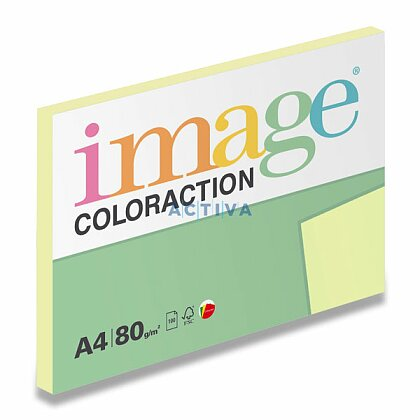 Obrázok produktu Image Coloraction - farebný papier - pastelovo žltá, A4, 80 g, 100 l., Desert