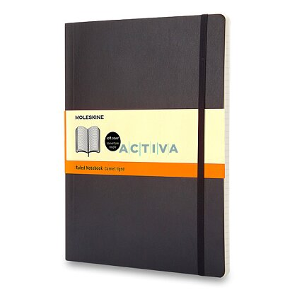 Obrázek produktu Moleskine - zápisník v měkkých deskách - vel. XL, 19 × 25 cm, linkovaný, černý