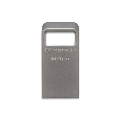 Obrázek produktu Kingston DataTraveler Micro 3.1 - flash disk - 64 GB, kovový