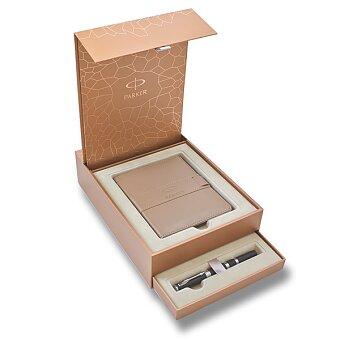 Obrázek produktu Parker Ingenuity Black Rubber & Metal CT - 5TH, dárková sada se zápisníkem