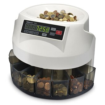 Obrázek produktu Počítačka mincí Safescan 1200 - 355 x 330 x 266 mm, 5 kg