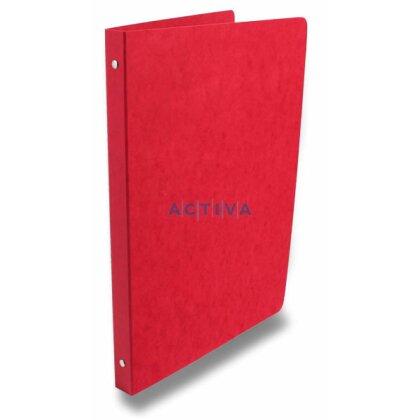 Obrázek produktu Esselte Prešpán - 4kroužkový pořadač - A4, 23 mm, červený