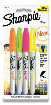 Obrázek produktu Permanentní popisovač Sharpie Neon - sada 4 barev