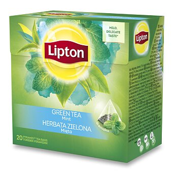Obrázek produktu Zelený čaj pyramida Lipton Intense Mint Tea - 20 sáčků