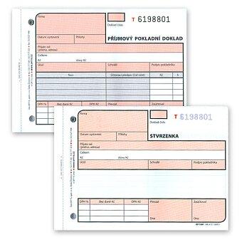 Obrázek produktu Příjmový pokladní doklad Optys 1081 - A6, samopropis, čislovaný