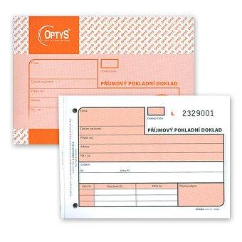 Obrázek produktu Příjmový pokladní doklad Optys 1082 - A6, samopropis, číslovaný