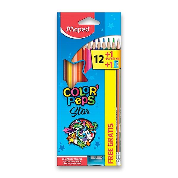 Pastelky Maped Color'Peps 12 barev + ořezávátko a grafitová tužka