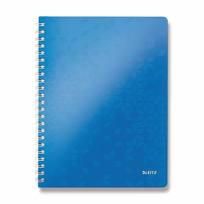 Obrázok produktu Leitz WOW - krúžkový blok - A4, 80 listov, linajkový, modrý