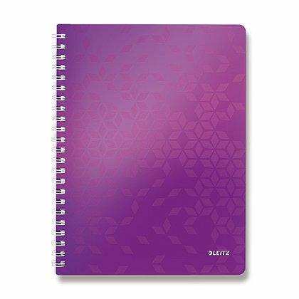 Obrázok produktu Leitz WOW - krúžkový blok - A4, 80 listov, linajkový, fialový
