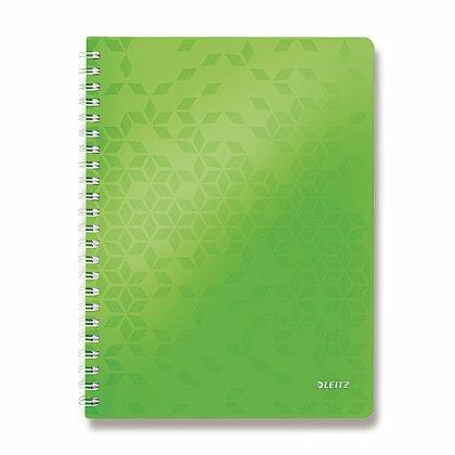 Obrázok produktu Leitz WOW - krúžkový blok - A4, 80 listov, linajkový, zelený