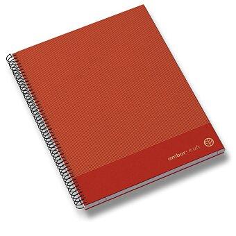 Obrázek produktu Kroužkový blok Ambar Kraft - A4, linkovaný, 150 listů, mix barev