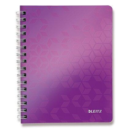 Obrázek produktu Leitz WOW - kroužkový blok - A5, 80 listů, linka, fialový