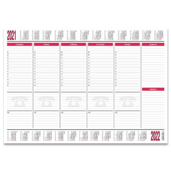 Papírová stolní podložka Bobo 2020/2021 590 x 420 mm, 30 listů