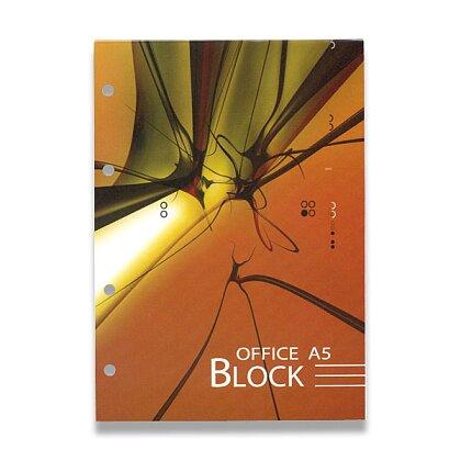 Obrázek produktu Papírny Brno - kancelářský blok - lepený, děrovaný - A5, 70 l., linkovaný