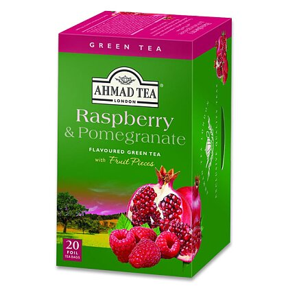 Obrázek produktu Ahmad Tea malina, granátové jablko - zelený čaj - 20 × 2 g