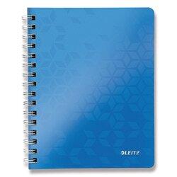 Levně Leitz WOW - kroužkový blok - A5, 80 listů, linka, modrý