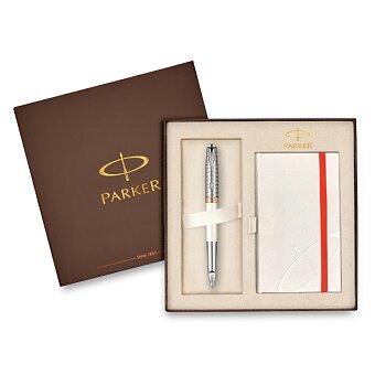 Obrázek produktu Parker Sonnet Metal & Pearl - sada 5TH a zápisník