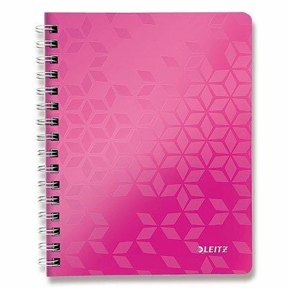Obrázok produktu Leitz WOW - krúžkový blok - A5, 80 listov, linajkový, ružový
