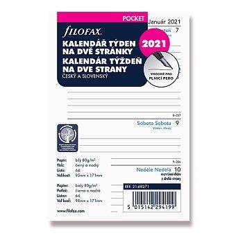 Obrázek produktu Týdenní kalendář 2021, Čj - náplň kapesních diářů Filofax