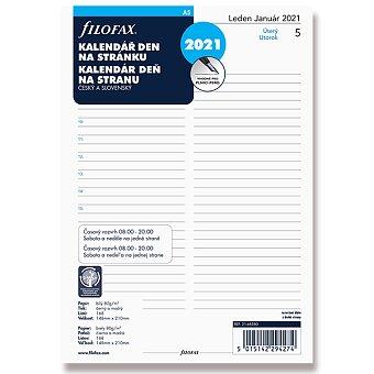 Obrázek produktu Denní kalendář 2021, Čj - náplň A5 diářů Filofax