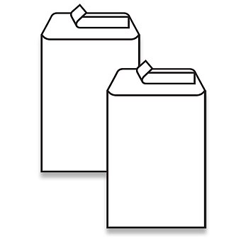 Obrázek produktu Bílá obálka Clairefontaine - C5, samolepicí, bez okénka, lepení na výšku