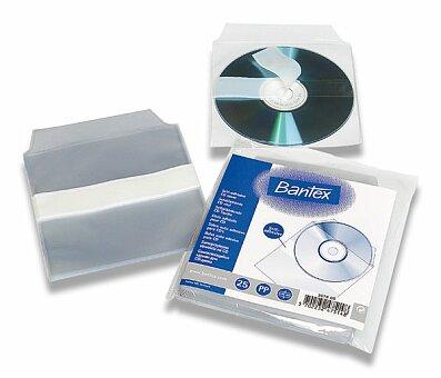 Obrázek produktu Samolepicí kapsa na CD Bantex - 25 ks