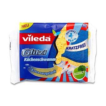 Obrázek produktu Houbička na Vileda Glitzi - ionty stříbra, 2 ks
