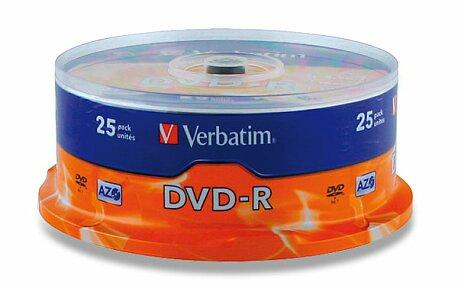 Obrázek produktu Zapisovatelné DVD Verbatim DVD-R - 4,7 GB, 25 ks spindl