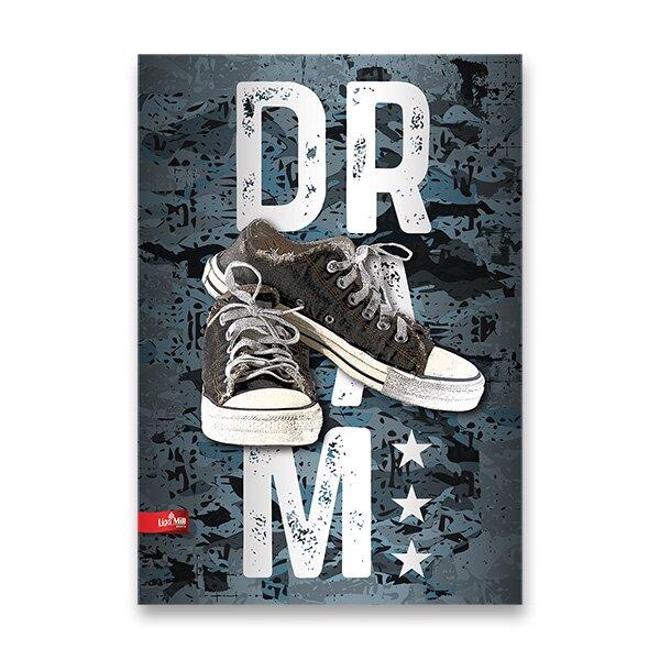 Školní sešit The Best Sneakers A5, linkovaný, 40 listů, mix motivů