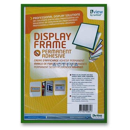 Obrázek produktu Tarifold Display Frame - samolepicí prezentační rámeček - A4, 1 ks, zelený