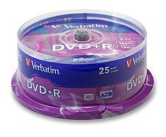 Zapisovatelné DVD Verbatim DVD+R