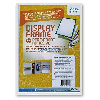 Obrázek produktu Tarifold Display Frame - samolepicí prezentační rámeček - A5, 1 ks, bílý