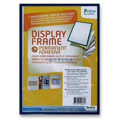 Obrázek produktu Tarifold  Display Frame - samolepicí prezentační rámeček - A4, 1 ks, modrý
