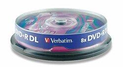 Zapisovatelné DVD Verbatim DVD+R 16x