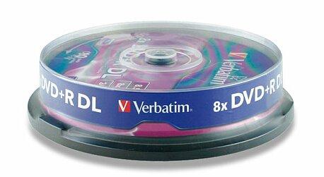 Obrázek produktu Zapisovatelné DVD Verbatim DVD+R 16x - 4,7 GB, 10 ks spindle
