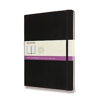 Obrázek produktu Zápisník Moleskine - tvrdé desky - XL, linkovaný-čistý, černý